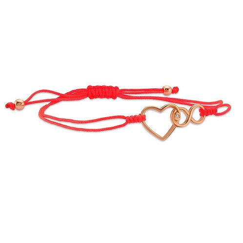Diamond Heart Infinity Bracelet