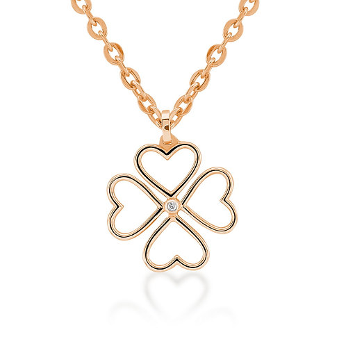 Diamond 4 Leaves Clover Necklace