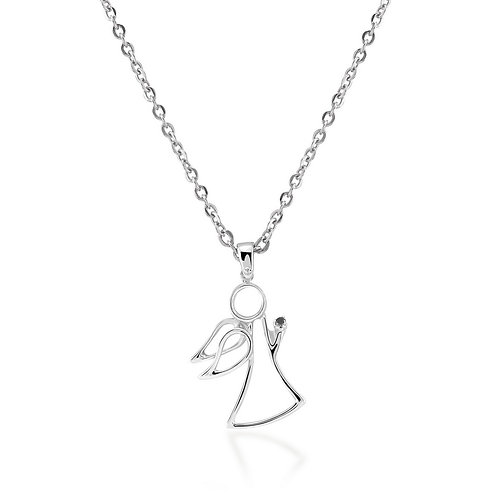Black Diamond Angel Necklace