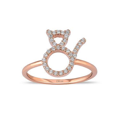 Gemstone Cat Ring