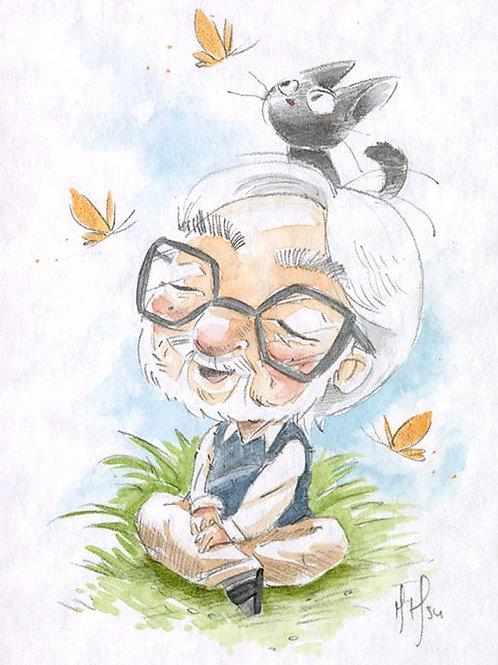 Hayao Miyazaki - Jiji Print