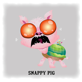 Snappy Pig 烏龜豬 (Angry)