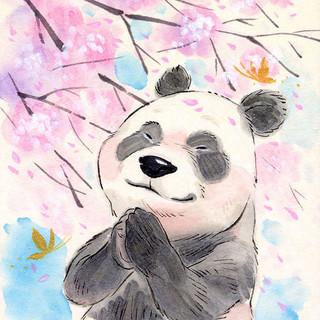 Sakura Wishes - Panda