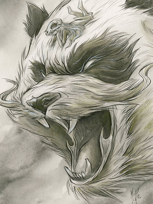 Spirit Animals - Panda Bear Print