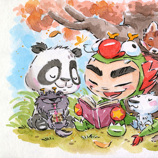 Dragon Boy Reading - Forests
