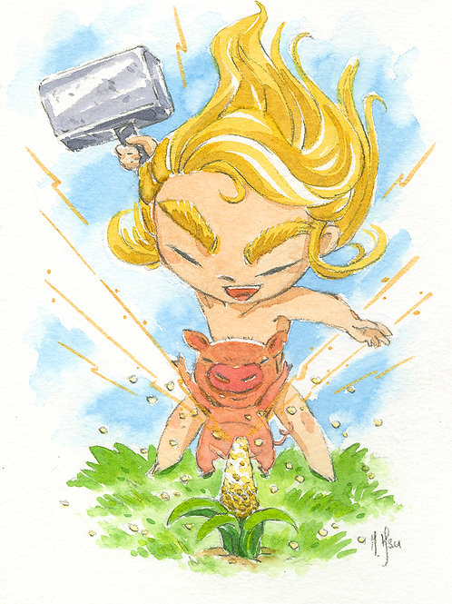 Little Thor - Print
