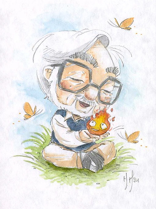 Hayao Miyazaki - Calcifer Print