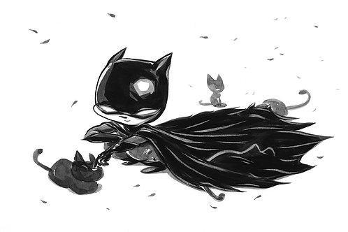 Bat Boy - Cats Print