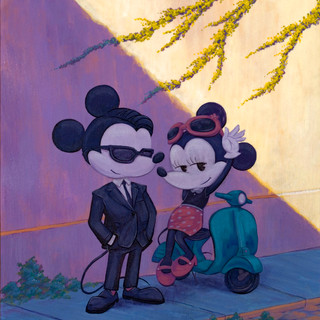 Mickey and Minnie on Holiday