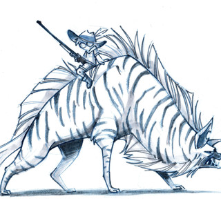 Striped Hyena Rider