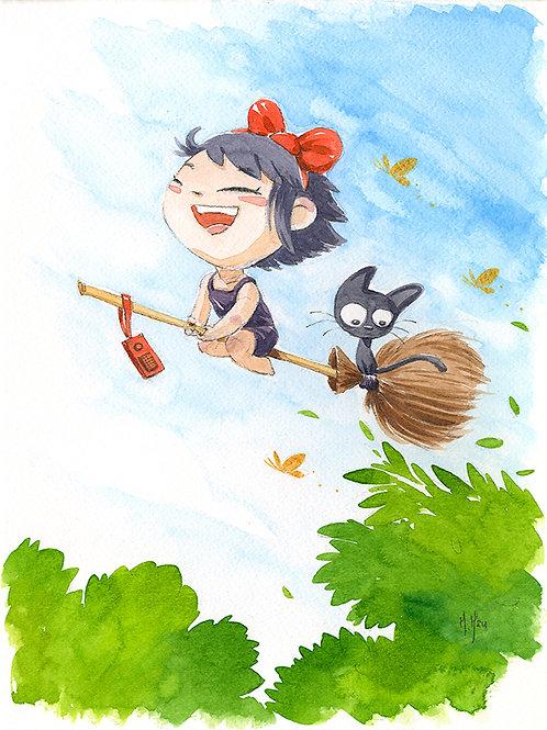 Kiki and Jiji - Flight