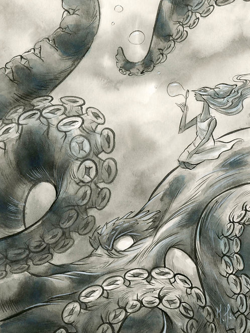 Spirit Animals -Octopus Print