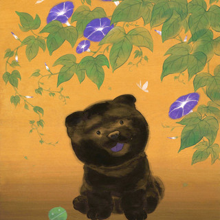 Chow and Morning Glories