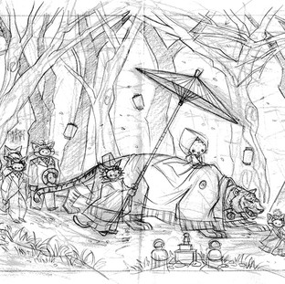 Once Upon A Kitty Wedding (sketch)