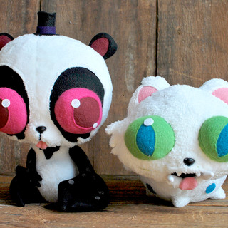 Crabby Bear & Puffer Puss Plushies