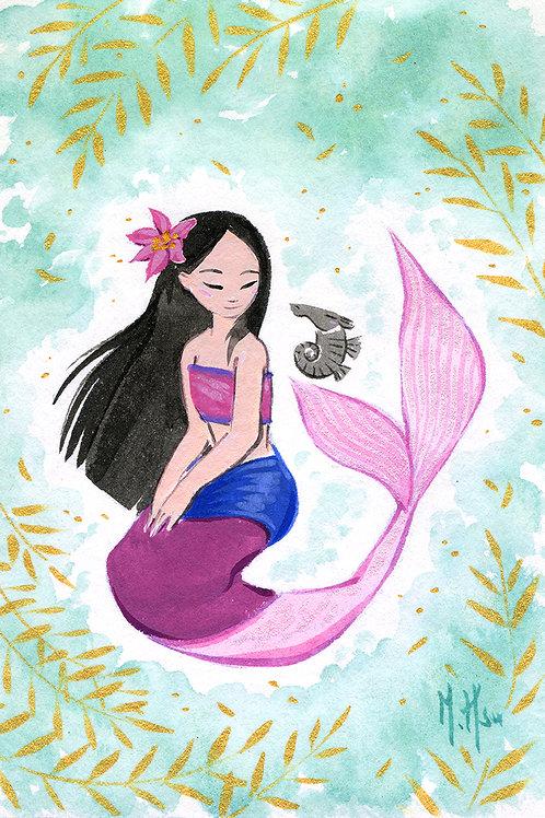 Mulan Mermaid - Still Print