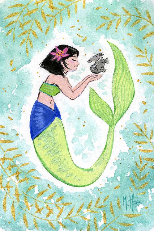 Mulan Mermaid - Splash Print