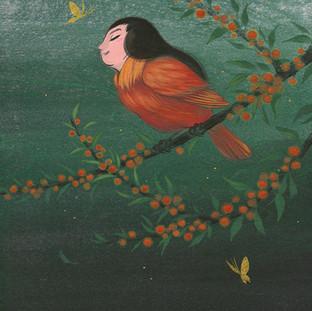 Cardinal and Firethorn