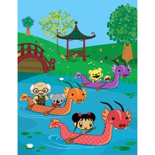 Press Art: Dragon Boat Race