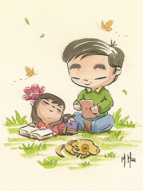 Mulan and Papa - Reading Print