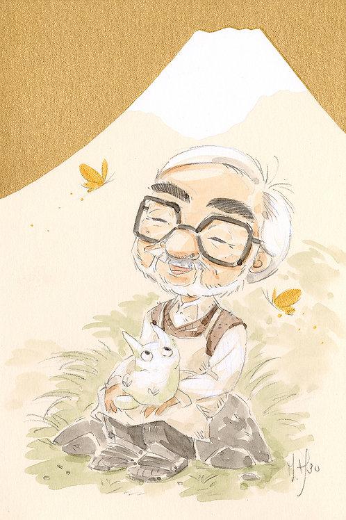 Hayao Miyazaki Mt Fuji - Totoro print