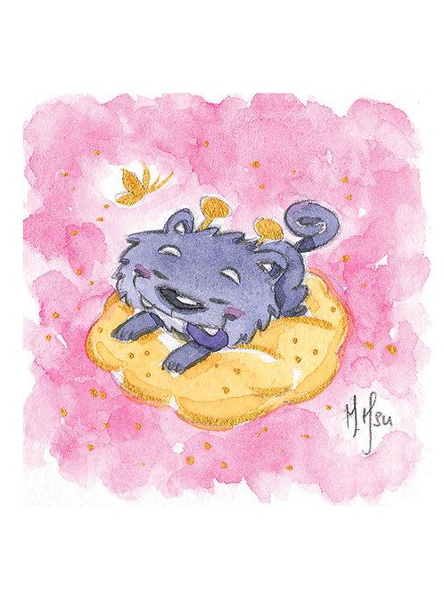 Puppy Dreams (Pink) - Print