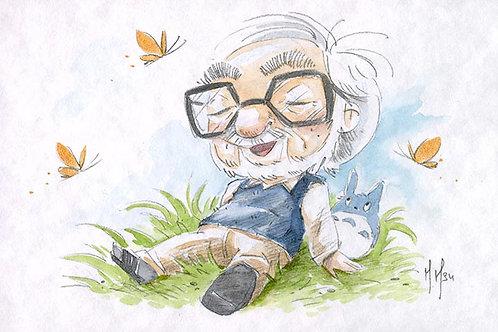 Hayao Miyazaki - Totoro Print