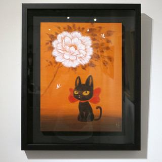 Peony and Black Kitty