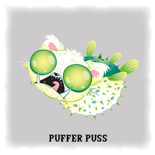 Puffer Puss 河豚貓 (Angry)