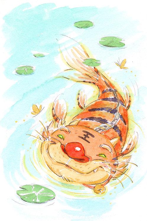 Tiger Koi - Swim Print