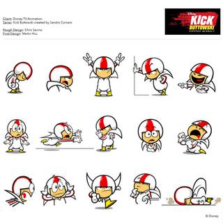 Character Design: Kick Buttowski © Disney