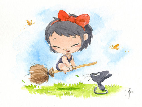 Kiki and Jiji - Play Print