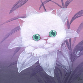 White Cat and Lily