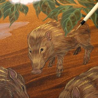 Pygmy Hogs (detail)