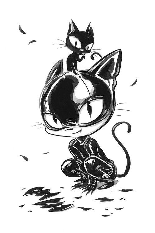 Cat Girl - Stare Print