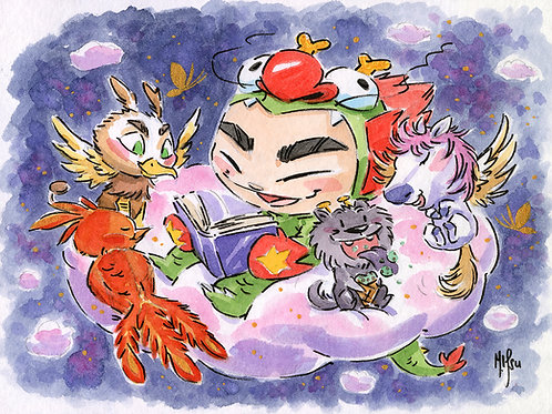Dragon Boy and Dragon Dog - Dreams Print
