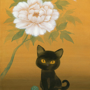 Black Cat and Peony
