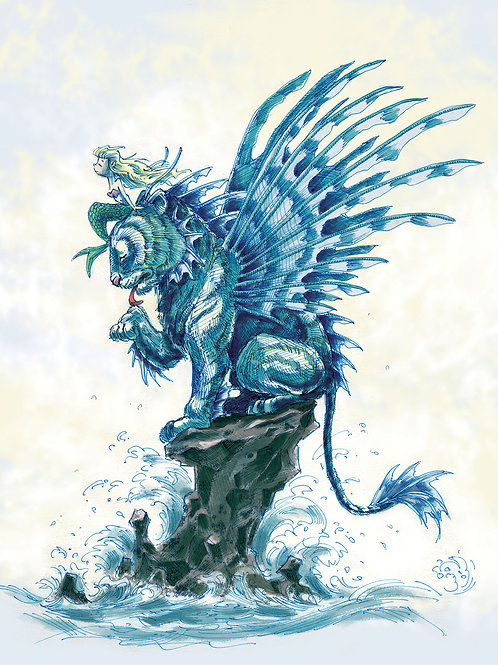Tiger Fish Print