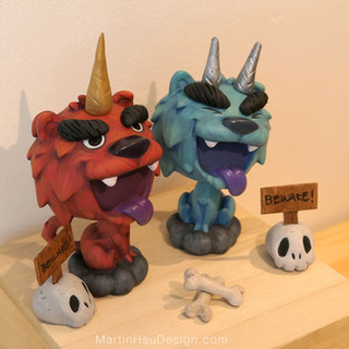 Oni Pups - Gold and Silver Horn
