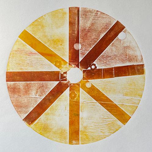 Orange and Yellow Circle Print