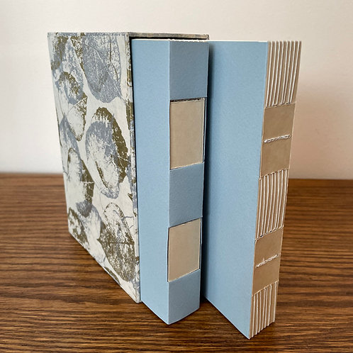 Set of 2 Handmade Books in a Decorative Slip Case