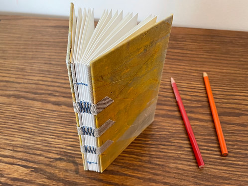 Yellow Book with Decorative French Link Binding