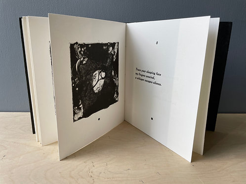 Artist Book 🌑 Haiku 🌑 Letterpress Printed Poems with Handmade Prints