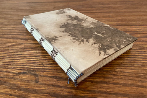 Hard Cover Notebook with Decorative, Exposed Spine Binding