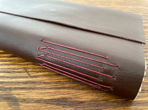 Brown Leather Journal with Magnet Closure