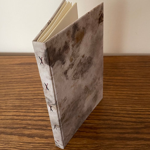 Unique Notebook with Hand dyed & Handprinted Fabric Cover