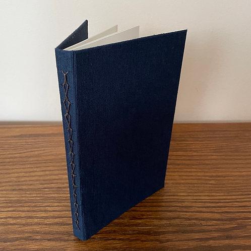 Luxe Blue Bookcloth Handmade Notebook
