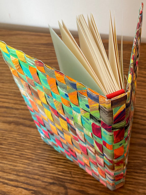 Handmade Journal with Colorful Woven Cover