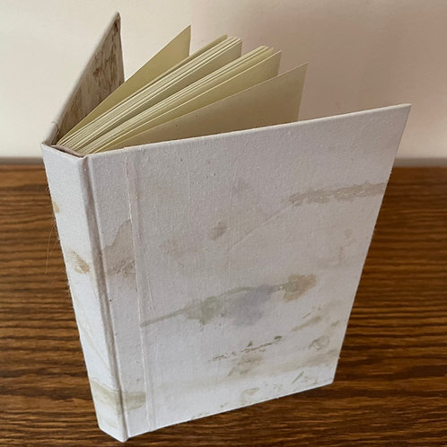 Handmade Journal with Printed Flower Cover. Casebound Book with Great Details.