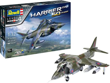 Revell RV05690 Hawker Harrier GR Mk.1 Gift Set Plastic Model kit, Multicoloured, 1:32